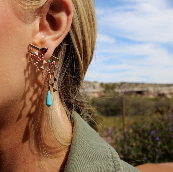 Gem Gossip wears Nouvel Heritage earrings