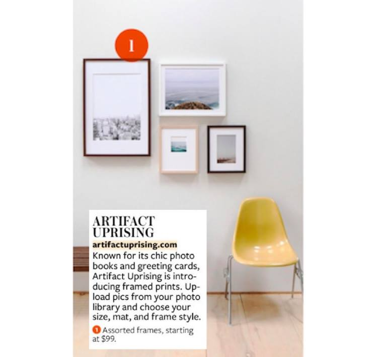 Artifact Uprising in November Issue of InStyle