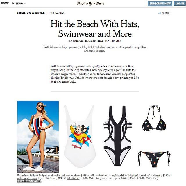Bikini.com Featured in the New York Times Thursday Style Section