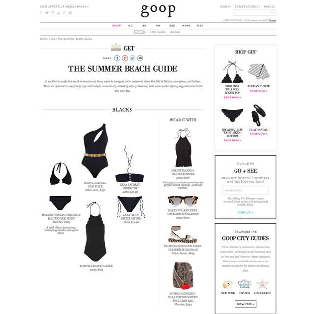 Goop features Bikini.com suits and sunnies