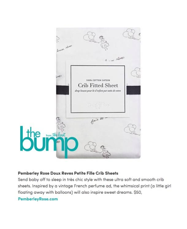 Pemberley Rose Crib Sheets on the Bump