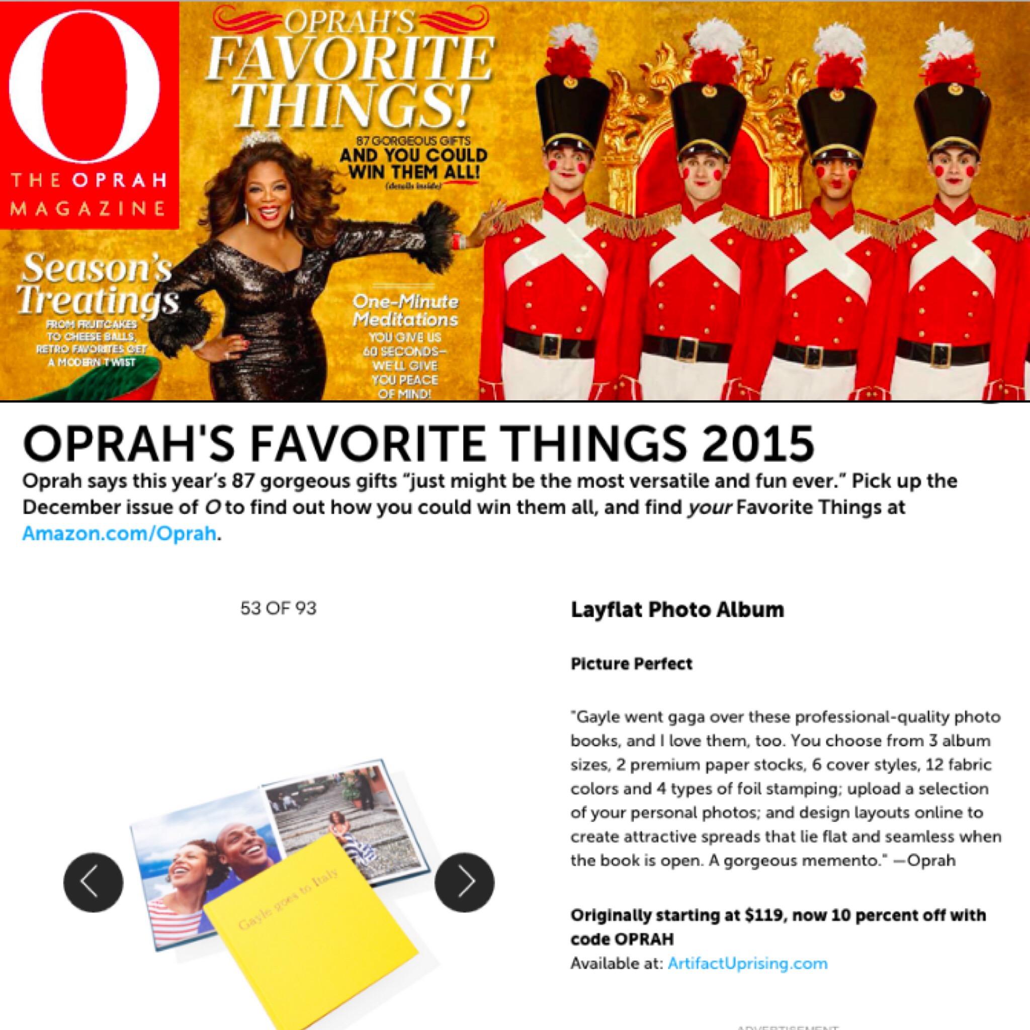 The Layflat Album from Artifact Uprising makes Oprah's Favorite Things List