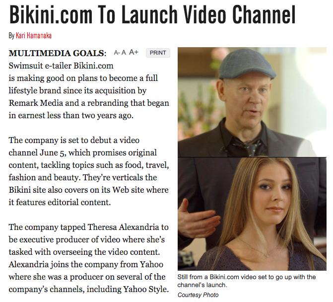 WWD announces Bikini.com's new video channel