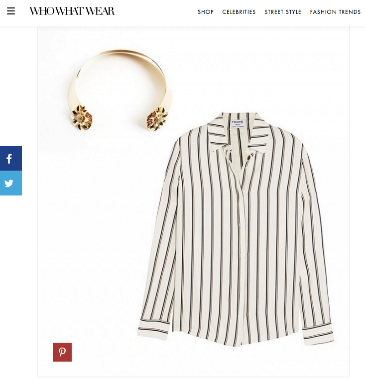 Anmare Sunflower Choker makes WhoWhatWear's list for the best choker pairings for fall