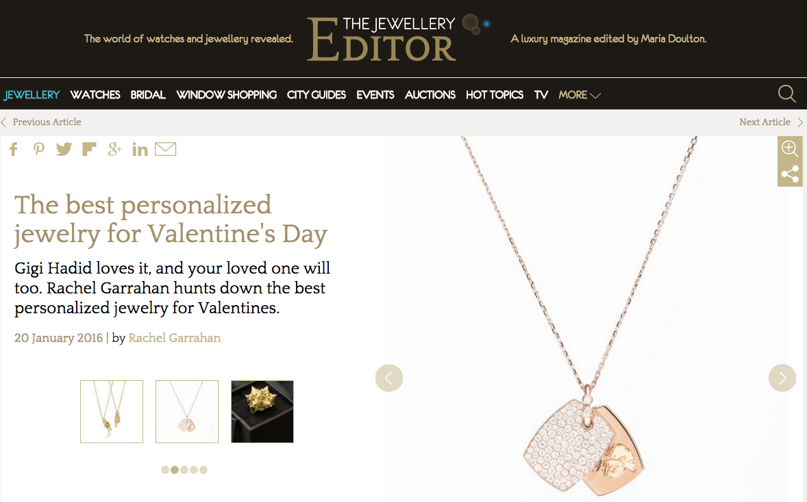 The best personalized jewelry for Valentine's Day