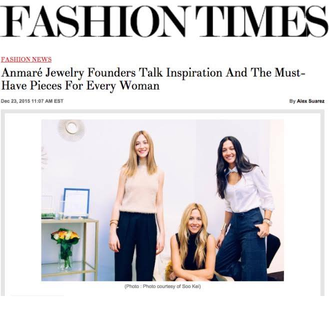 Anmare sisters featured in Fashion Times