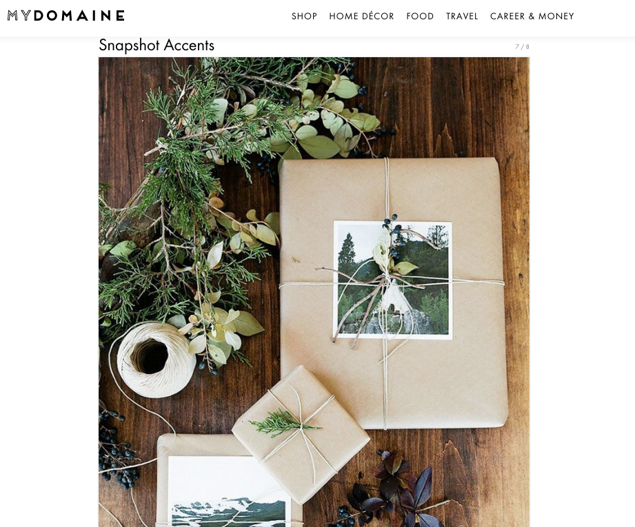 Artifact Uprising Prints featured on My Domaine