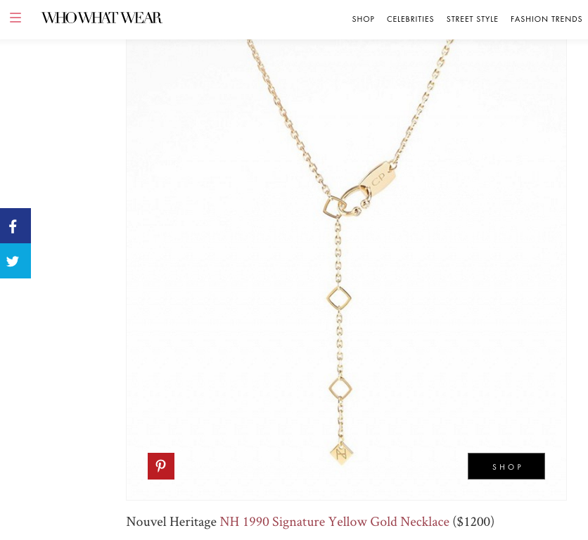 The most delicate personalized necklace from Nouvel Heritage on Who What Wear!
