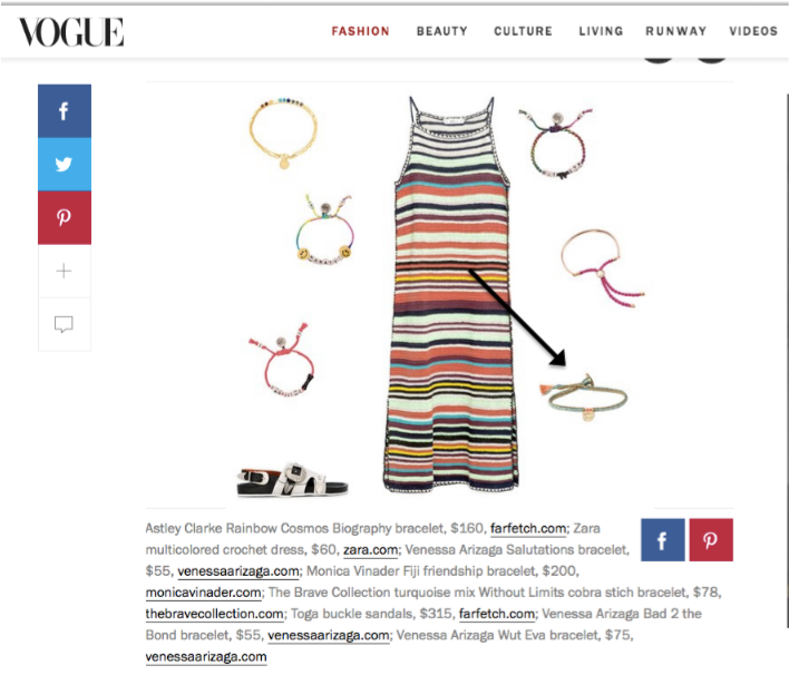 The Brave Collection featured in Vogue for Coachella.
