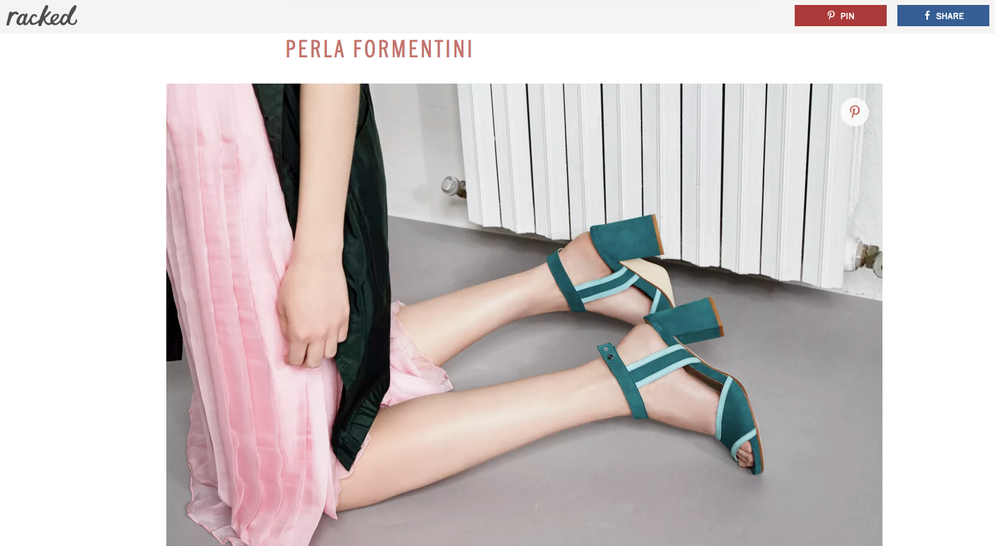Perla Formentini featured in Racked.