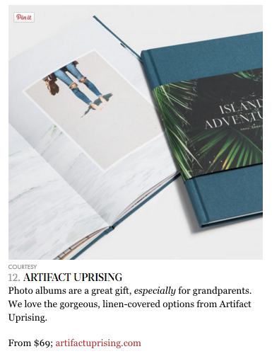 Artifact Uprising featured in InStyle.